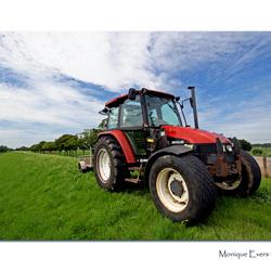 Tractor in de polder
