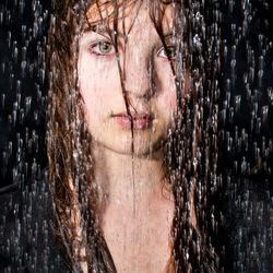 Portretje onder de douche