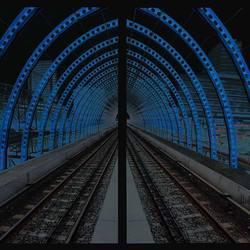 Metro Station Sloterdijk heen en terug