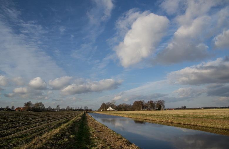 Veenkoloniaal landschap - De foto is genomen in de omgeving van Drouwenerveen