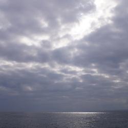 Zon op de zee