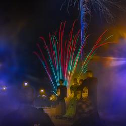 De reuzen en vuurwerk in Leopoldsburg.