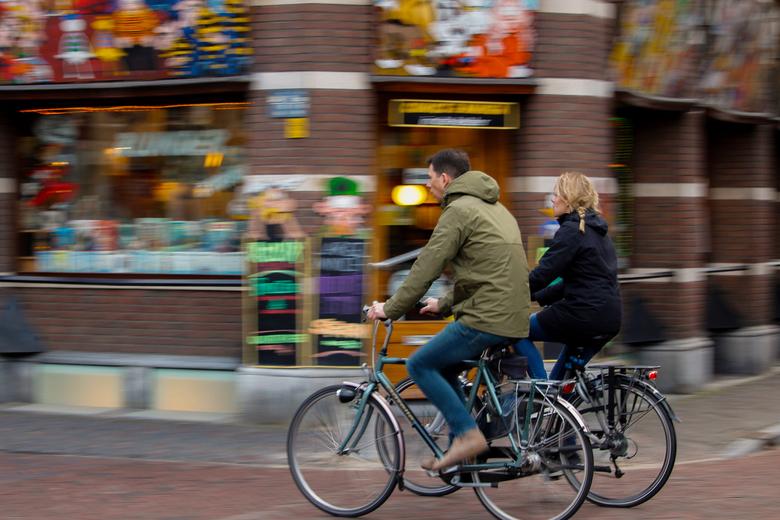 Fietsers in utrecht - Vorig jaar gemaakt in Utrecht. Meegetrokken waardoor je een mooi effect krijgt