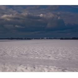 sneeuw, lucht en..  duinen