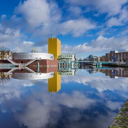 Groninger Museum in de wolken