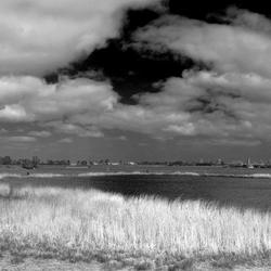 panorama dijk en Muiderslot