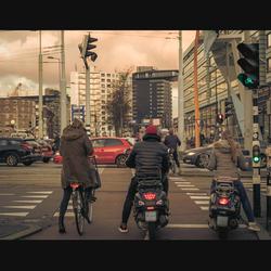 Filmisch straatbeeld