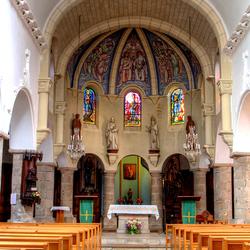 Kerk binnen op Ile aux Moines Bretagne du Sud