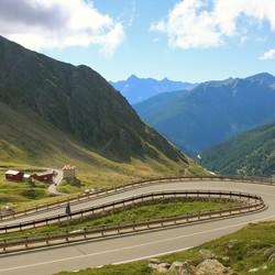 in de Alpen
