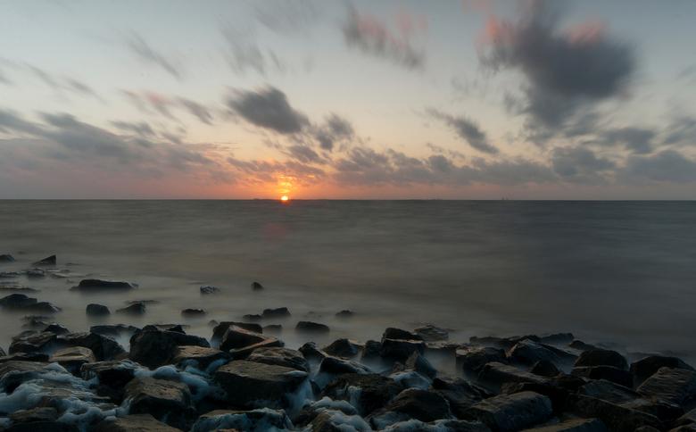 Zonsondergang bij Wierum