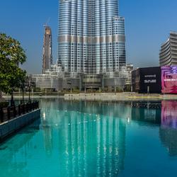 Burj Khalifa reflectie