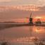 lichte zonsopkomst bij het water in Streefkerk Zoom wedstrijd