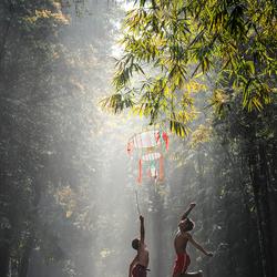 Playing Kite
