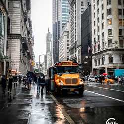 schoolbus in New York