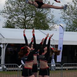 Nog een keer cheerleaders in actie