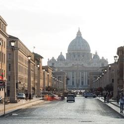 Uitzicht op de Vaticaan in Rome
