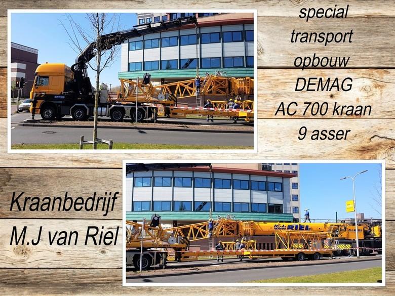collage  2 Fotos SanneT  Kraanbedrijf  M.J van Riel  DEMAG   AC 700  9 asser  april 2020  - Hallo Zoomers , Vandaag een aparte Collage uit 2 foto s di