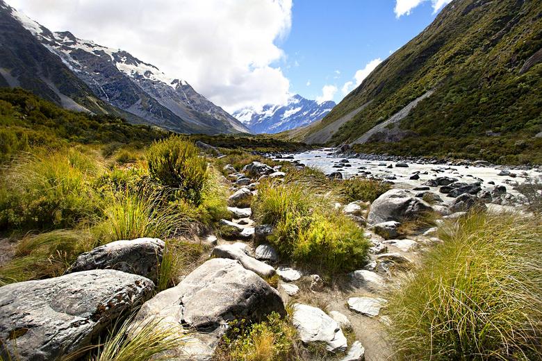 Nieuw - Zeeland 037 - Onderweg naar de gletsjer.