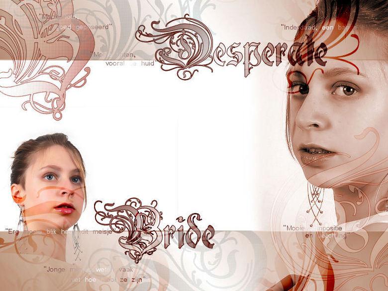 """Desperate Bride - Deze twee foto's zijn door mijn moeder, DaanD50, gemaakt, en de """"desperate bride"""" ben ik zelf. Ik vind het altijd las"""