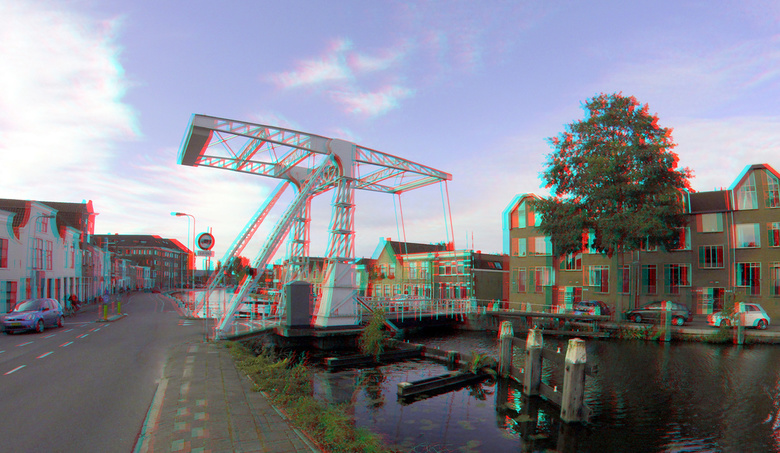 Brug Gouda 3D anaglyph - Gouda  GoPro 200mm<br /> anaglyph stereo red-cyan