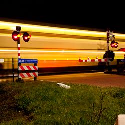 En de trein raast voorbij...