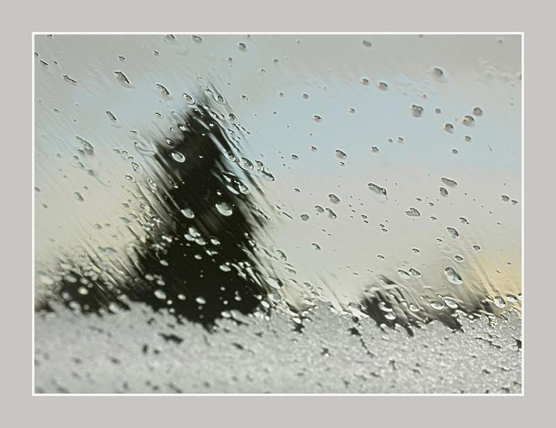 echte wintersfeer - een winterse bui