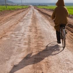 Op de fiets....