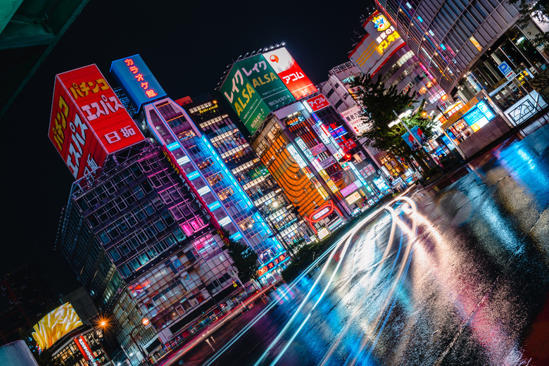 Let it all just rain on me - Tokyo, één van de weinige plekken waar ik blij word van regen!