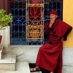 Monnik in Bhaktapur