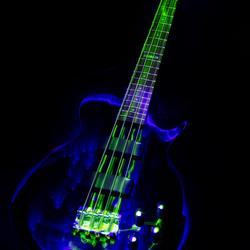 Lightpainted bassguitar