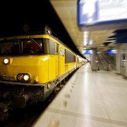 Station rijdt weg
