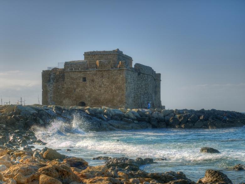 Middeleeuws kasteel van Paphos Cyprus - Paphos kasteel is gelegen aan de rand van de haven van Paphos Het werd oorspronkelijk gebouwd als een Byzantij
