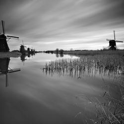 Storm bij Kinderdijk