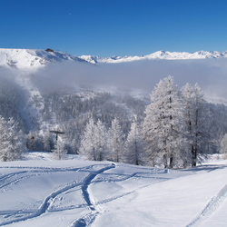 Winter in Sestrière