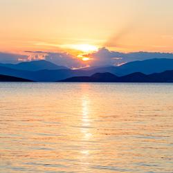 Ondergaande zon (Peleponnese) Griekenland (1 van 1)