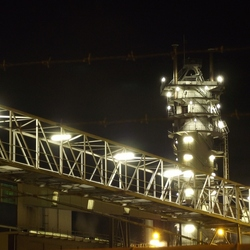 Suikerfabriek by night