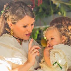 Interactie intiem moment moeder en kind