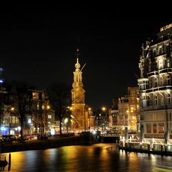 Amsterdam bij nacht 'light festival'