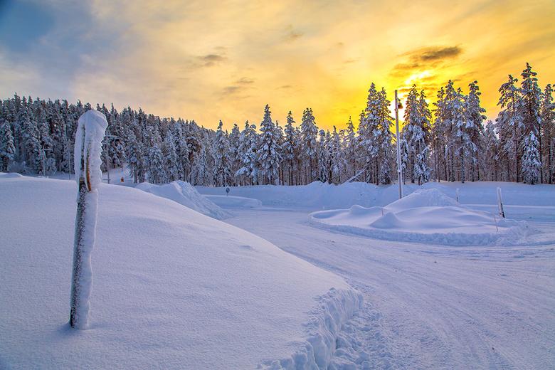 Lapland 1 Joop Lankhaar - Lapland ondergaande zon