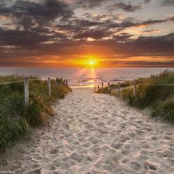 Texel, zonsondergang