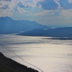 sporen in het fjord