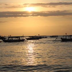 Zonsondergang in Indonesie