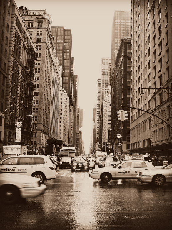 New York City - New York City on a rainy day