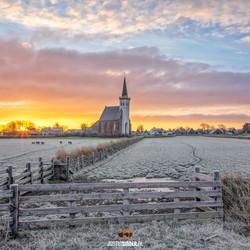 Zonsopkomst den Hoorn op Texel.