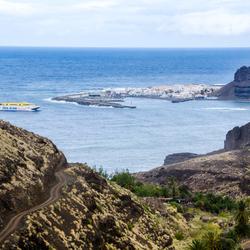 Gran Canaria 10 - de kust bij Agaete met veerboothaven