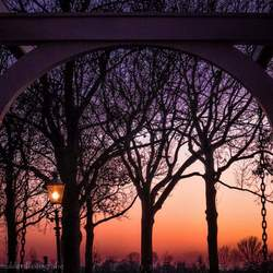 Kasteel Doorwerkt zonsondergang