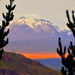 Peru- Zonsopkomst.