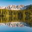 Carezza meer, Dolomieten, Italie