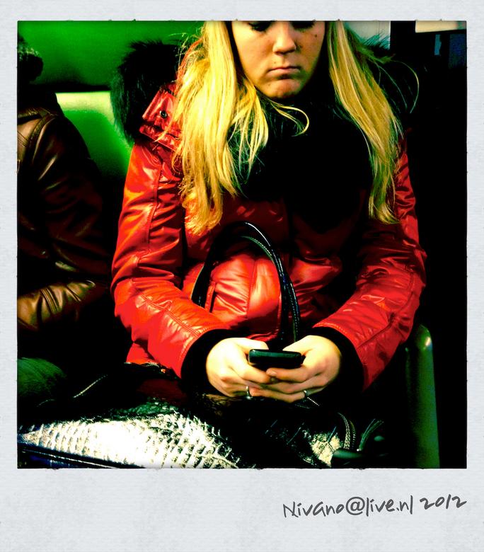 treinreizigers - uit de serie treinreizigers, de mobiel