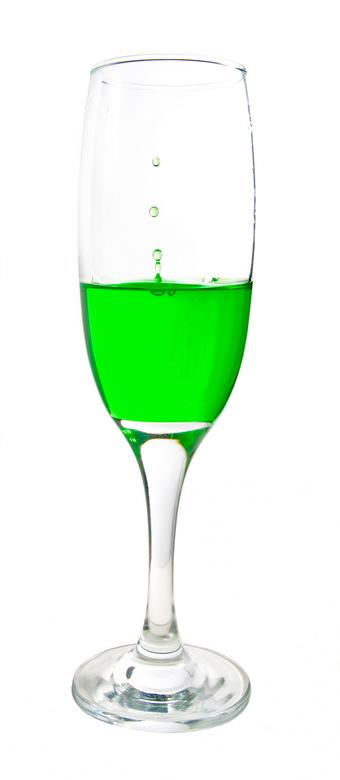 Groene druppel - Strobist druppel